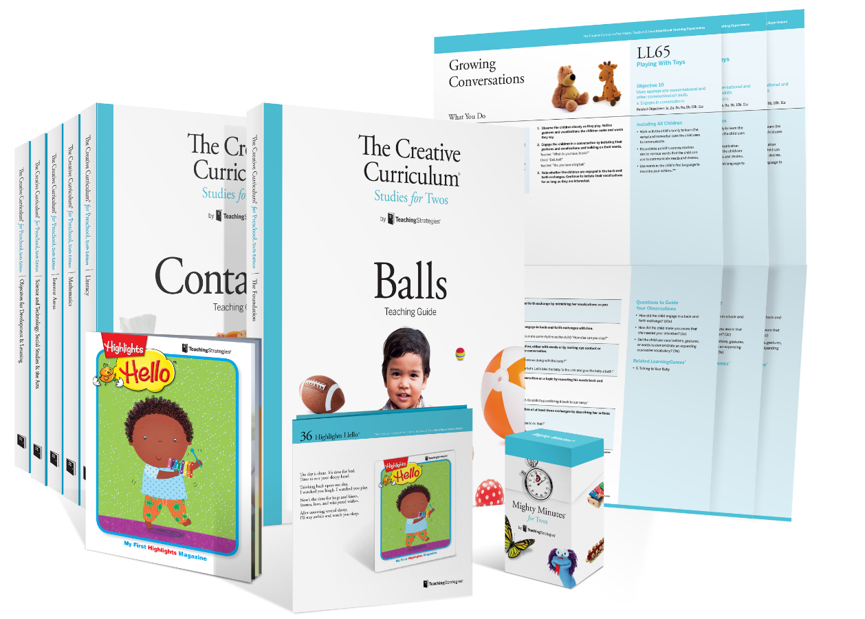 A sample of curriculum from The Creative Curriculum for Infants, Toddlers, and Twos